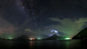 Atitlan under the stars and thunder by SantiBilly