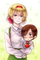 Request #5 : Belgium and chibi Romano by NonexistentWorld