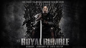 WWE Royal Rumble 2013 Wallpaper The Rock by ToHeavenOrHell