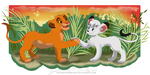 Gift for eugenius330: Simba and Kimba by WeisseEdelweiss