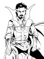 Captain Jack Strange Lineart by sean-izaakse