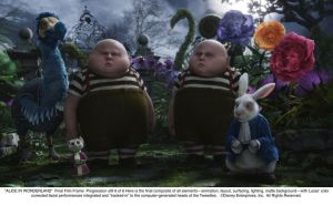 Tweedles - Progression Art 6 by AliceInWonderland