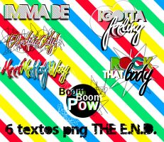 6 textos png THE E.N.D. by MrLittleBigPlanet