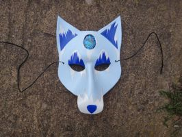 Ice Wolf leather mask by Masktastic