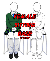 TMNTU Female Sitting template by Pimpypants