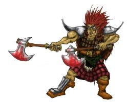 scottish warrior color test by Bokor