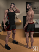 John Shepard Muscle Shirt  Shorts (XPS) by Grummel83