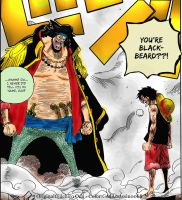 Luffy vs Blackbeard - Impel Down by godassassin0068
