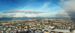 Rainbow over Trondheim by Soravis