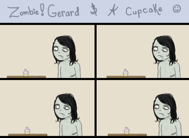 Zombie-Gerard and A Cupcake by SaintPancake