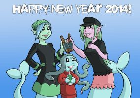 Modest Medusa New year 2014 by JakeRichmond