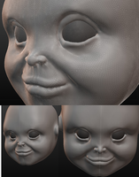 Chucky Head 3D by Cosmic-man