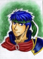 Ike - Fire Emblem (Digital Color Sketch) by SpazztasticFanGirl