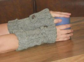 commuter fingerless gloves by Glori305
