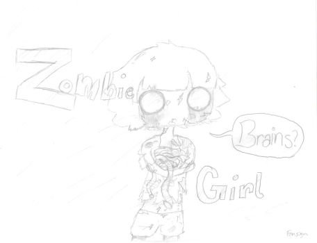 Zombie Girl by willyoubemystar