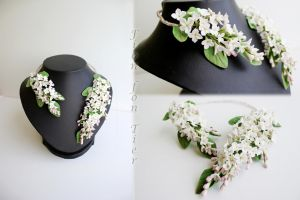 White lilac necklace by fion-fon-tier