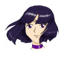 Sailor Saturn Sketch by banachana