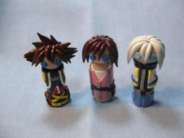Wobbles: Sora, Kairi, and Riku by kitcat4056