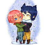 RL commission Chibi couple art - Veracasan by Caim-The-Order