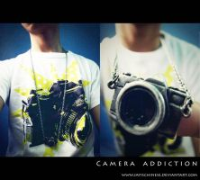 camera shirt and necklace by JAYisCHINESE