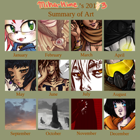My 2013 Art Summary by Miha-Hime