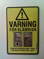 Caution jam danger - funny elevator sign by Harkfast