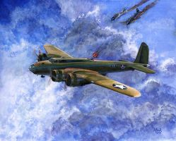 B-17D Flying Fortress by kimdemulder