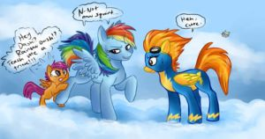 Rainbow Dash and Scootaloo by RainbowDashScootaloo