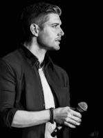 Jensen Ackles black and white by Armellin