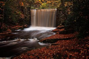 autumn waterfall by CharmingPhotography