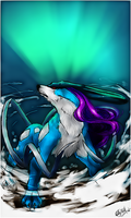 Suicune .:Polar Light:. by WhiteSpiritWolf