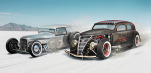 Desert Beast vs. RatRod by AS001