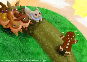 Every Eevee for Themselves by BriBriBlitz