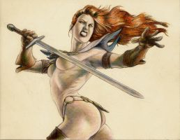 Red Sonja 3c Unfinished by Sumo0172