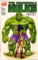 Hulk and Wonderwoman sketch cover commission by huy-truong