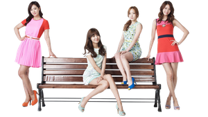 SNSD PNG render Lotte Departement store by Chocoshim