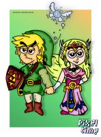 Pre-Comic Character Preview - Link and Zelda by michaelheuvel