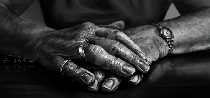 Grandma's Hands by frene