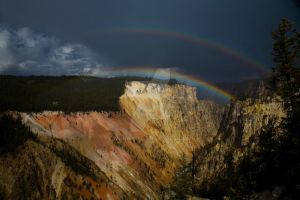 Rainbow over the Canyon by miniwyo
