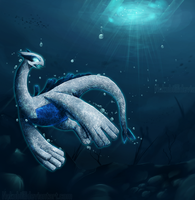 Lugia - king of the sea by Nakubi