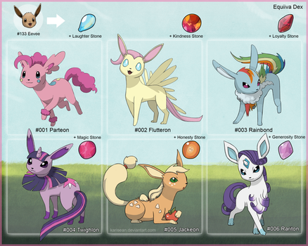 Totally 100% Confirmed NEW Pony Eeveelutions by Karisean