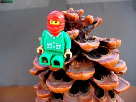 Lego figure on the cone by MannyDiax