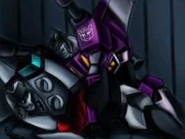 When autobot catch a decepticon by murr-miay