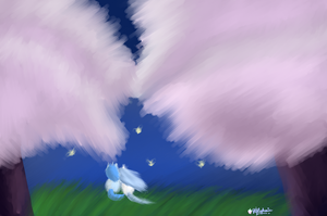 Watching Fireflies by Pinki3pie