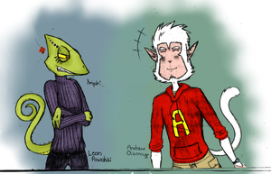 Leon and Andrew colored by peacepowerpie