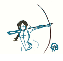 Katniss? Archer? just a sketch... by Archery-colors