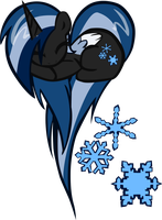 Snowdrift OC Pony Heart by pyrestriker