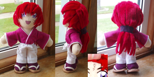 Kenshin plushie by magickitty1972