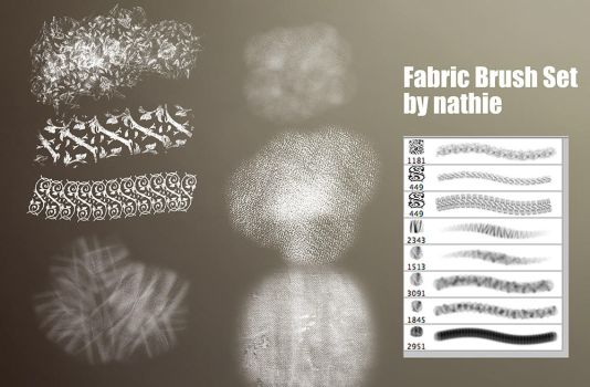 Fabric / Brocade Brushset by nathies-stock
