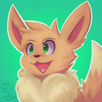 Mio The Eevee Drawing Jan 2017 by Zander-The-Artist